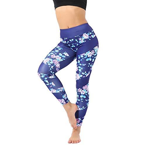 Bedruckte Leggings Damen,Hohe Taillen Laufende Hosen Sport Hüfte anheben Yogahose Frauen Gamaschen Keucht Athletische Hose Gym Fitnesshose Jogginghose
