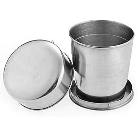 Kry Camping vasos 160ml campamento taza portátil plegable de acero inoxidable taza tazas de vacaciones para deportes al aire libre potable senderismo vaso plegable