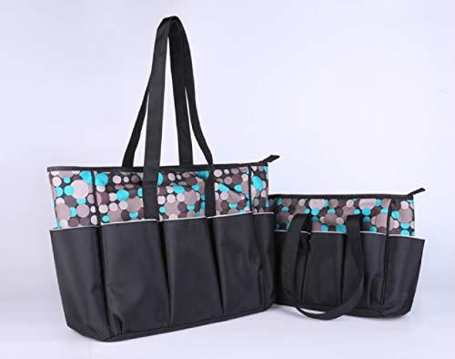 Mindruer Multifunktions große Kapazität Mummy Bag Polka Dot Muster Mummy Bag Handtasche (grau) -