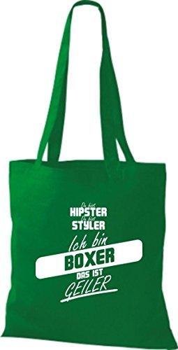 Shirtstown Stoffbeutel du bist hipster du bist styler ich bin Boxer das ist geiler kelly