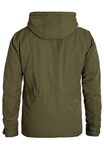 BLEND Cirocco Herren Winterjacke Jacke im Vintage-Look mit Stehkragen und Kapuze aus hochwertiger Materialqualität Ivy Green (77026)