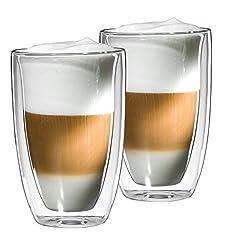 mohnblume - 2er Set LATTE MACCHIATO Glas 350ml SONDER EDITION, doppelwandig (Thermoglas) mit Schwebeeffekt, auch als Cocktail- oder Teeglas verwendbar