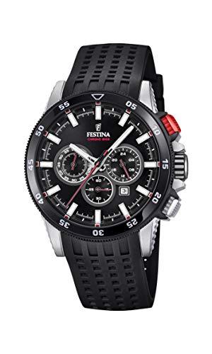Festina Herren Chronograph Quarz Smart Watch Armbanduhr mit Silikon Armband F20353/4