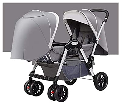 Kaysa-TS Cochecito Doble para niños. Sistema de Viajes Cochecito Adecuado recién Nacido y niño