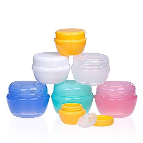 24 pezzi contenitori cosmetici vuoti vasetti da viaggio plastica per vaschette per ombretti crema per unghie