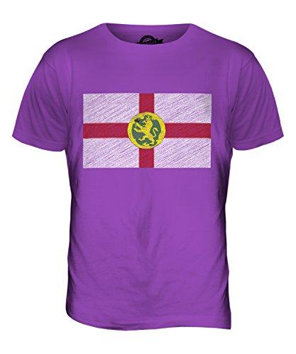 CandyMix Alderney Kritzelte Flagge Herren T Shirt Violett
