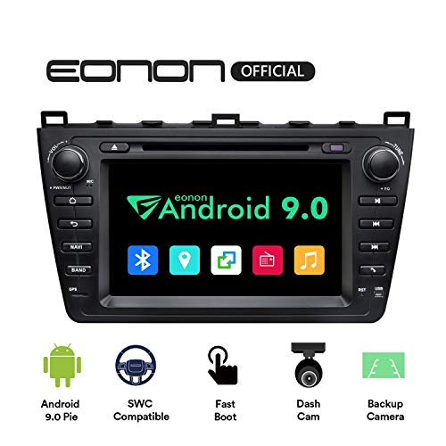 eonon GA9398 fit Mazda 6 2009 2010 2011 2012 Android 9 2G RAM 32G ROM Quad-Core 20,3 cm HD Touchscreen Audio Video Stereo DVD GPS kompatibel mit Bose System Support Bluetooth 4G Dongle WiFi (Video-receiver / Dongle)