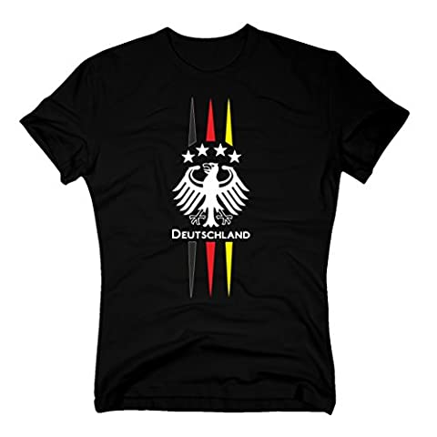 DEUTSCHLAND T-Shirt WM 2014 Fan Adler schwarz, XXXL