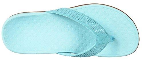 Vionic Womens Tide Rhinestone Toepost Sandal Blu