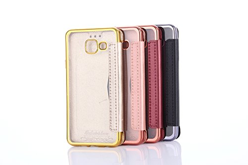 iphone 7 Hülle,iphone 7 Leder Flip Wallet Hülle,Plating TPU Cover Bumper Tasche Premium Ultra Slim Handyhülle für iphone 7 Rose Gold Rot