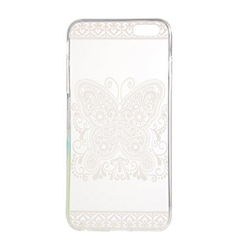 TPU für Smartphone Apple iPhone 6 (4.7 Zoll) Design Pattern Carving Relief Schutzhülle Schutz Hülle - Case in einzigartigem Design – Aus weichem TPU dünn - Schützt vor Schmutz und Kratzern +Staubsteck 12
