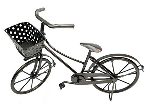 Deko Fahrrad mit Korb aus Metall Dekoration Geldgeschenk Bike