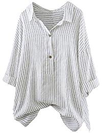 Abbigliamento E A T Shirt Bluse it Bluse Camicie Top Amazon Righe vqRwATxwS