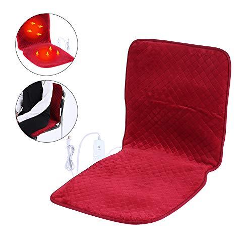 Coussin de siège chauffant, 10 vitesses Contrôle de la température de la couverture de chauffage chaud Coussin de siège plus chaud avec dossier pour utilisation de voiture