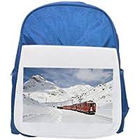 Railway, Bernina Railway, LAGALB Printed Kid 's blue Backpack, cute Backpacks, cute small Backpacks, cute Black Backpack, Cool Black Backpack, Fashion Backpacks, Large Fashion Backpacks, Black Fashion