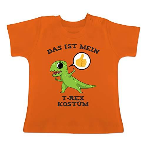 Karneval und Fasching Baby - Das ist Mein T-Rex Kostüm Comic - 1-3 Monate - Orange - BZ02 - Baby T-Shirt Kurzarm (Orange Trex Kostüme Für Kinder)