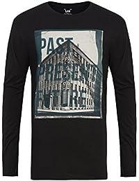 Lee Henley - Camiseta de manga larga con cuello con botones para hombre