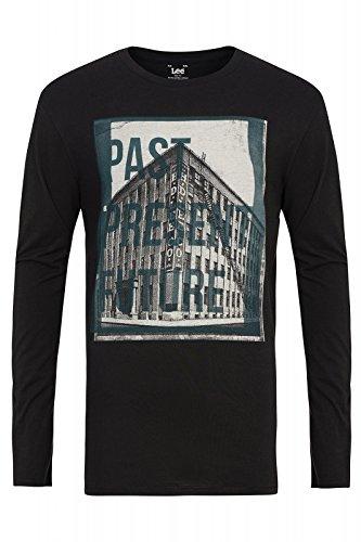 Lee L63VAIJA T-Shirt Maniche Lunghe Uomo NERO