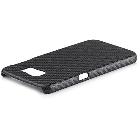 iCues–Cover in fibra di carbonio, black, Samsung Galaxy S6