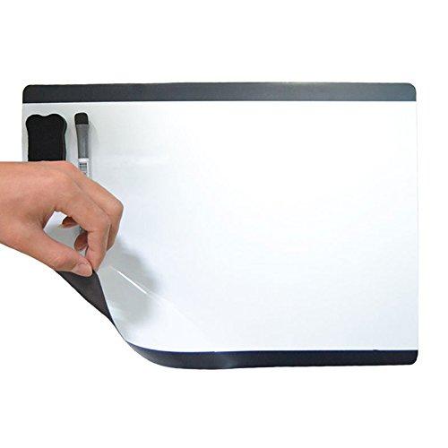 Kreativ Magnetische (Villexun, Magnettafel / Schreibwand, A4-Format, weiches Material, funktioniert wie ein Kühlschrankmagnet (selbsthaftend), beschreibbar mit Büromarker, kreatives Design schwarz)