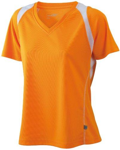 James & Nicholson -T-shirt  Donna Arancione (orange/white)
