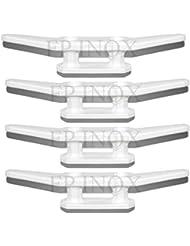 Portaestantes Nylon blanco (lote de 4) longitud 110mm