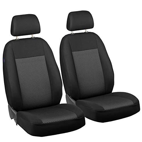Zakschneider Matrix Vorne Sitzbezüge - für Fahrer und Beifahrer - Farbe Premium Schwarz-graue Dreiecke Optimum - Toyota Sitzbezüge Auto Matrix
