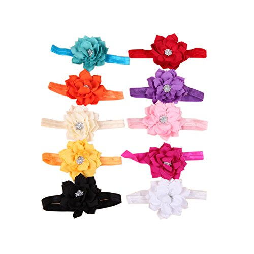 Domybest 10 stücke Blume Baby Kleinkind Mädchen Säugling Stirnband Haarschleife Band Zubehör Haarschleife Baby Stirnband