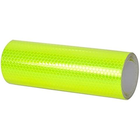 Verde 3mx15cm riflettente prismatico sicurezza Warn Attenzione Conspicuity nastro autoadesivo della pellicola Nastri adesivi Nastro Adesivo
