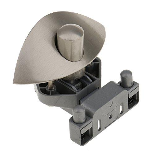 Preisvergleich Produktbild Homyl Kunststoffschloss Gehäuse und Knopf Briefkastenschloss Moebelschloss Schrankschloss - Nickel