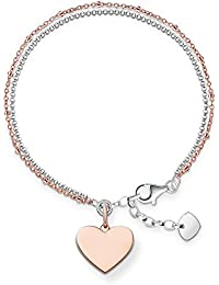 Thomas Sabo Glam & Soul, Damen Armband, LBA0102-415-12-L19,5v, 925er Sterlingsilber