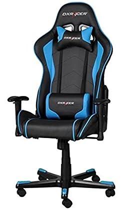 DXRacer  - Silla Gaming fe08 Negro y Azul