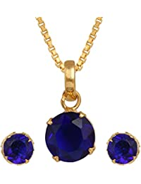 Cardinal American Diamond Latest Design Fashion Jewellerry Party Wear Pendant Necklace Set With Earring For Women...