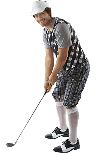 Kostüm Golfer - Erwachsener Herren Golf Kneipe Junggesellenabschied Kostüm Visier Extra Large