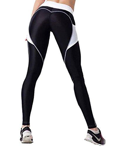 Foto de LaLaAreal Mujer Pantalon Deporte de Yoga Leggins Mallas Cintura Alta para fitness Running Fitness Gimnasio con Elastico y Transpirable