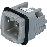 HARTING 09200032611Han a conector de uso, conector recto, 3contactos de 2filas, montaje de cable, 600V/10A