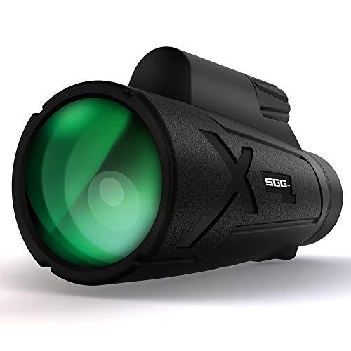 SEG Direct 12x50 kompaktes Monokular/Fernglas mit BAK-4 Dachkantprismen und HD FMC Linsen | IP67 Wasser- und staubdicht | weites und klares Sichtfeld