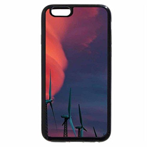 iPhone 6S / iPhone 6 Case (Black) Windmill Clouds