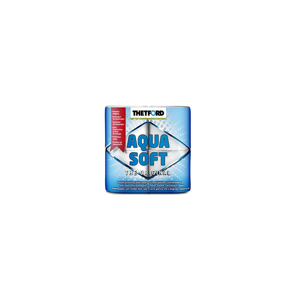 Thetford 30010 20127 Aqua Soft 4 rollos White
