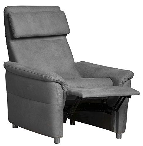 Cavadore Sessel Chalsay inkl. verstellbarem Kopfteil und Relaxfunktion / mit Federkern / moderner Fernsehsessel für Heimkino / Größe: 90 x 94 x 92 cm...