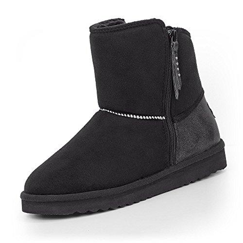 Esprit 088EK1W006-665 Uma Zip Damen Boots Reißverschluss Textilinnenausstattung, Groesse 38, schwarz