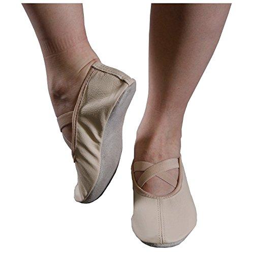 Gymnastikschuhe beige Kreuzgummi Gr. 37 - 43 Schläppchen Ballettschlappen Turnen