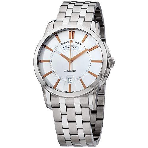 Maurice Lacroix Pontos PT6158-SS002-19E-1 - Reloj de Pulsera para Hombre (Esfera Plateada, Acero Inoxidable)