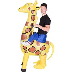 Aufblasbares Erwachsenenkostüm (Giraffe)
