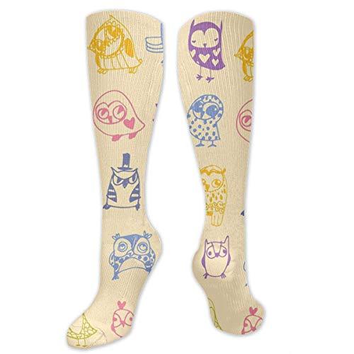 Bird Lady Babys Kostüm - Gped Kniestrümpfe,Socken Birds and Owls Compression Socks,Knee High Socks,Funny Socks for Women Men - Best Medical,Sports,Running, Nurses,Maternity,Pregnancy,Travel & Flight Socks