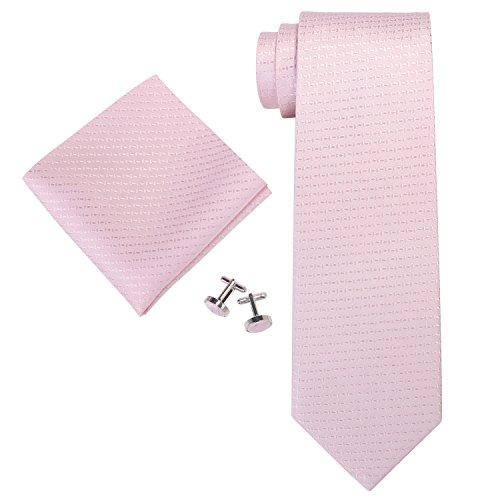 Landisun Herren Krawatten Set Solid,, Gr. Small,Rosa (Light Pink)