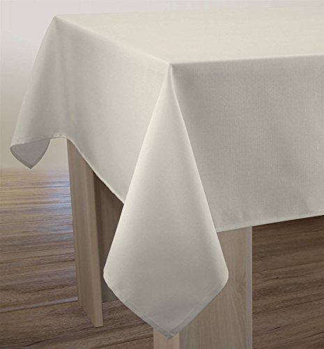 Nappe Unie - Anti-taches Ecru - taille : Rectangle 150x200 cm