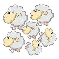 easyxu Cute cartoon sheep wall sticker scanable vinyl decal DIY cartoon animal mural Children