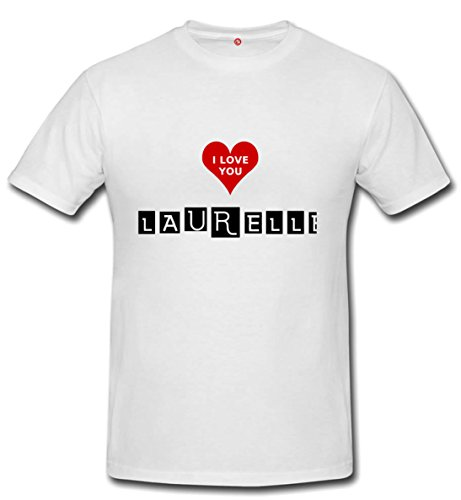 T-shirt Laurelle - Print Your Name White
