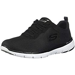 Skechers Flex Appeal 3.0 13070, Zapatillas para Mujer, Negro (Black White BKW), 37 EU